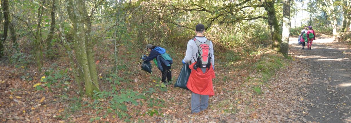 Caminata Inaugural Camino Clean- Participación activa en la recogida de basura