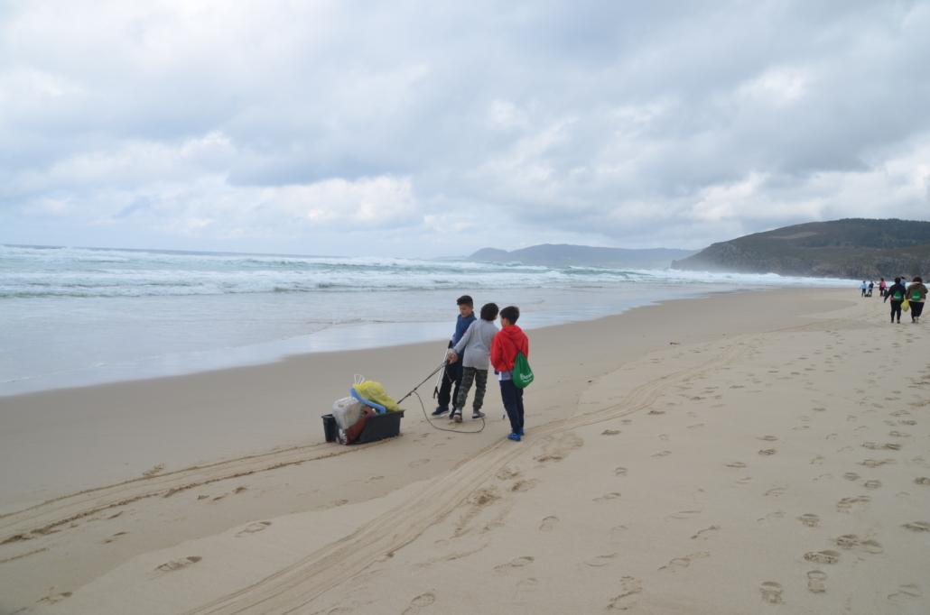 Segunda salida Camino Clean - Los niños participaron activamente
